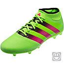 adidas Kids ACE 16.3 Primemesh FG/AG - Solar Green & Shock Pink