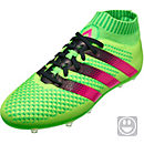 adidas Kids ACE 16+ Primeknit FG Soccer Cleats - Solar Green & Shock Pink