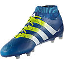 adidas ACE 16+ Primeknit FG Soccer Cleats - Shock Blue & Solar Yellow
