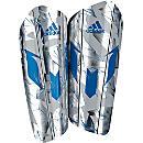 adidas Messi 10 Pro Shin Guard - Silver Metallic & Shock Blue