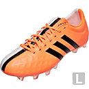 adidas 11Pro FG Soccer Cleats - White and Flash Orange