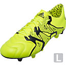 adidas X 15.1 Leather FG/AG Soccer Cleats - Solar Yellow