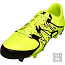 adidas Kids X 15.3 FG/AG Soccer Cleats - Yellow and Yellow
