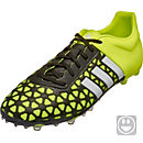 adidas Kids ACE 15.1 FG/AG Soccer Cleats - Black and White