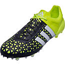 adidas ACE 15.1 FG/AG Soccer Cleats - Yellow and White