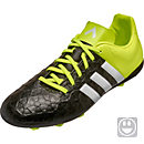 adidas Kids ACE 15.4 FxG Soccer Cleats - Black and White