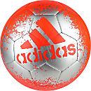 adidas X Glider II Soccer Ball - Solar Red & Silver Metallic