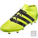 adidas Kids ACE 16.1 Primeknit FG Soccer Cleats - Solar Yellow & Silver Metallic