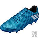 adidas Kids Messi 16.1 FG Soccer Cleats - Shock Blue & Silver Metallic
