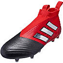 adidas ACE 17+ Purecontrol FG Soccer Cleats - Red & White