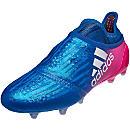 adidas X 16+ Purechaos FG Soccer Cleats - Blue & Shock Pink