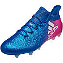adidas X 16.1 FG Soccer Cleats - Blue & Shock Pink