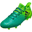 adidas X 16.1 FG Soccer Cleats - Solar Green & Black