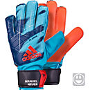 adidas Kids ACE Fingersave Goalkeeper Gloves - Manuel Neuer - Night Indigo & Solar Red