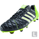 adidas adipure 11Pro SL TRX FG  Black with White and Solar Slime