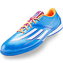 adidas F10 Indoor Soccer Shoes  Solar Blue with Solar Zest