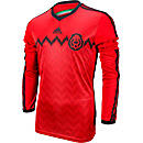 adidas Mexico Longsleeve Away Jersey 2014  Poppy with Black