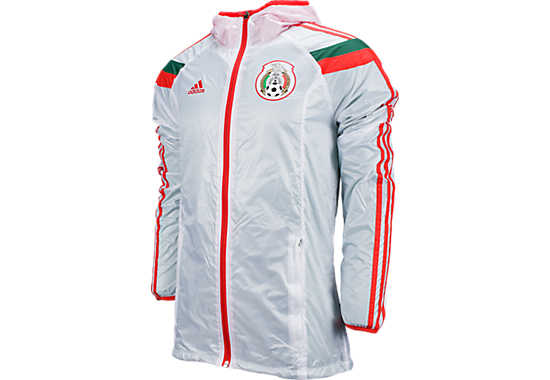 adidas Mexico Woven Anthem Jacket  White with Poppy