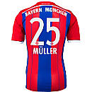 adidas Muller Bayern Munich Home Jersey 2014-15