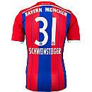 adidas Schweinsteiger Bayern Munich Home Jersey 2014-15