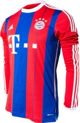 adidas Bayern Munich Long Sleeve Home Jersey 2014-2015