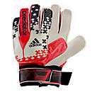 adidas Predator Training Goalkeeper Gloves  White with Red