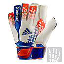 adidas Predator Fingersave Ultimate Goalkeeper Gloves  White and Blue