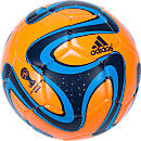 adidas Brazuca 2014 Glider  Solar Zest with Night Blue