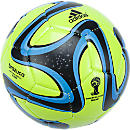 adidas Brazuca 2014 Glider  Solar Slime with Black