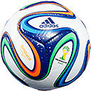 adidas Brazuca 2014 Mini Soccer Ball  White with Night Blue