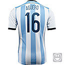 adidas Youth Argentina Kun Aguero World Cup Home Jersey