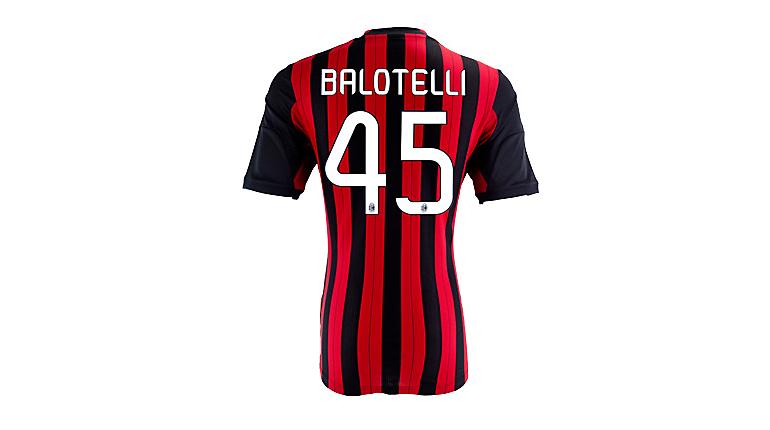 adidas AC Milan Balotelli Home Jersey 2013-2014