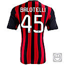 adidas Youth AC Milan Balotelli Home Jersey 2013-2014