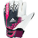 adidas Predator Fingertip Goalkeeper Gloves  Black with Vivid Berry