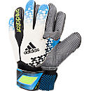 adidas Predator Pro Wet Grip Goalkeeper Gloves  White with Solar Blue