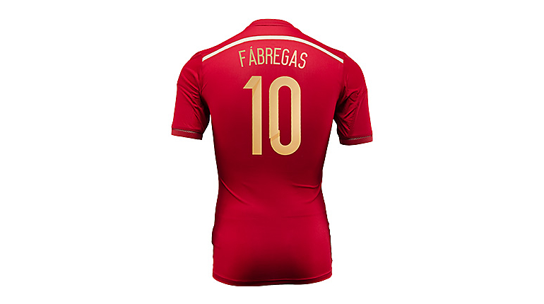 adidas Spain Fabregas World Cup Home Jersey