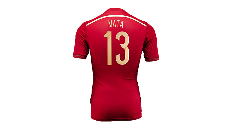 adidas Spain Mata World Cup Home Jersey