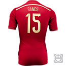 adidas Youth Spain Sergio Ramos World Cup Home Jersey