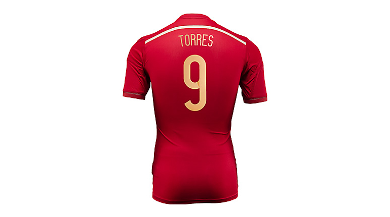 adidas Spain Torres World Cup Home Jersey