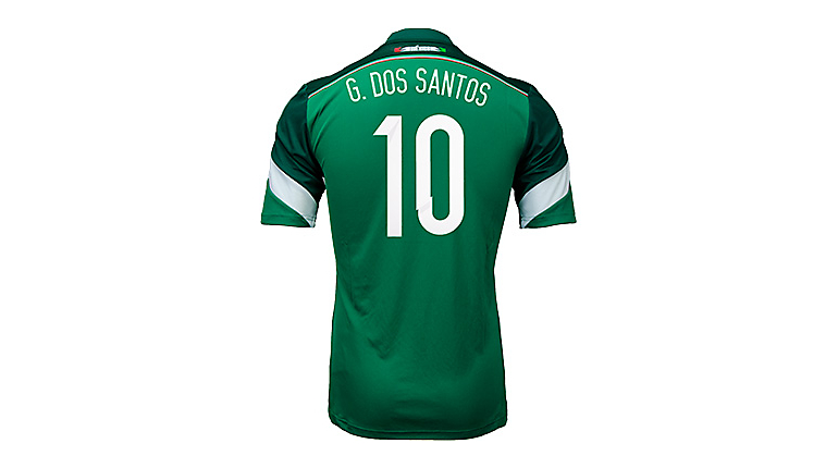 adidas Mexico Dos Santos World Cup Home Jersey