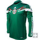 adidas Mexico Long Sleeve Home Jersey  World Cup 2014