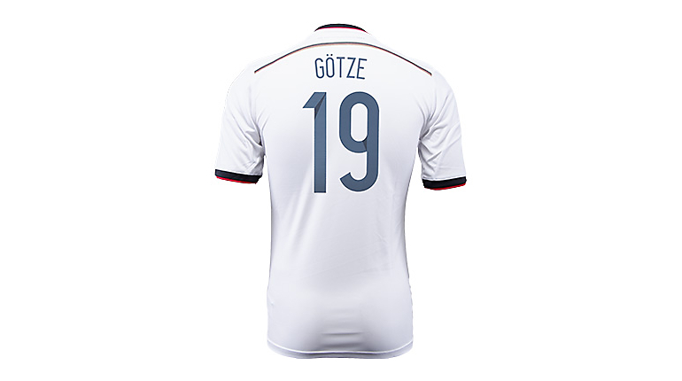 adidas Germany Gotze World Cup Home Jersey