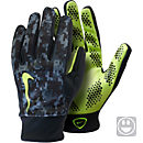 Nike Kids Hyperwarm Field Player Gloves - Black and Volt