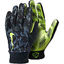 Nike Hyperwarm Field Player Gloves - Black and Volt