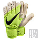 Nike Spyne Pro Goalkeeper Gloves - Volt and White