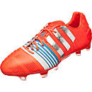 adidas Nitrocharge 1.0 FG Soccer Cleats - Red and Metallic Silver