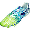 adidas Nitrocharge 1.0 Crazylight FG Soccer Cleats - White and Solar Green