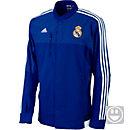 adidas Youth Real Madrid Anthem Jacket - Bold Blue