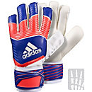 adidas Predator Fingersave Replique Goalkeeper Gloves - Red and White