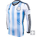 adidas Argentina Long Sleeve Home Jersey  World Cup 2014